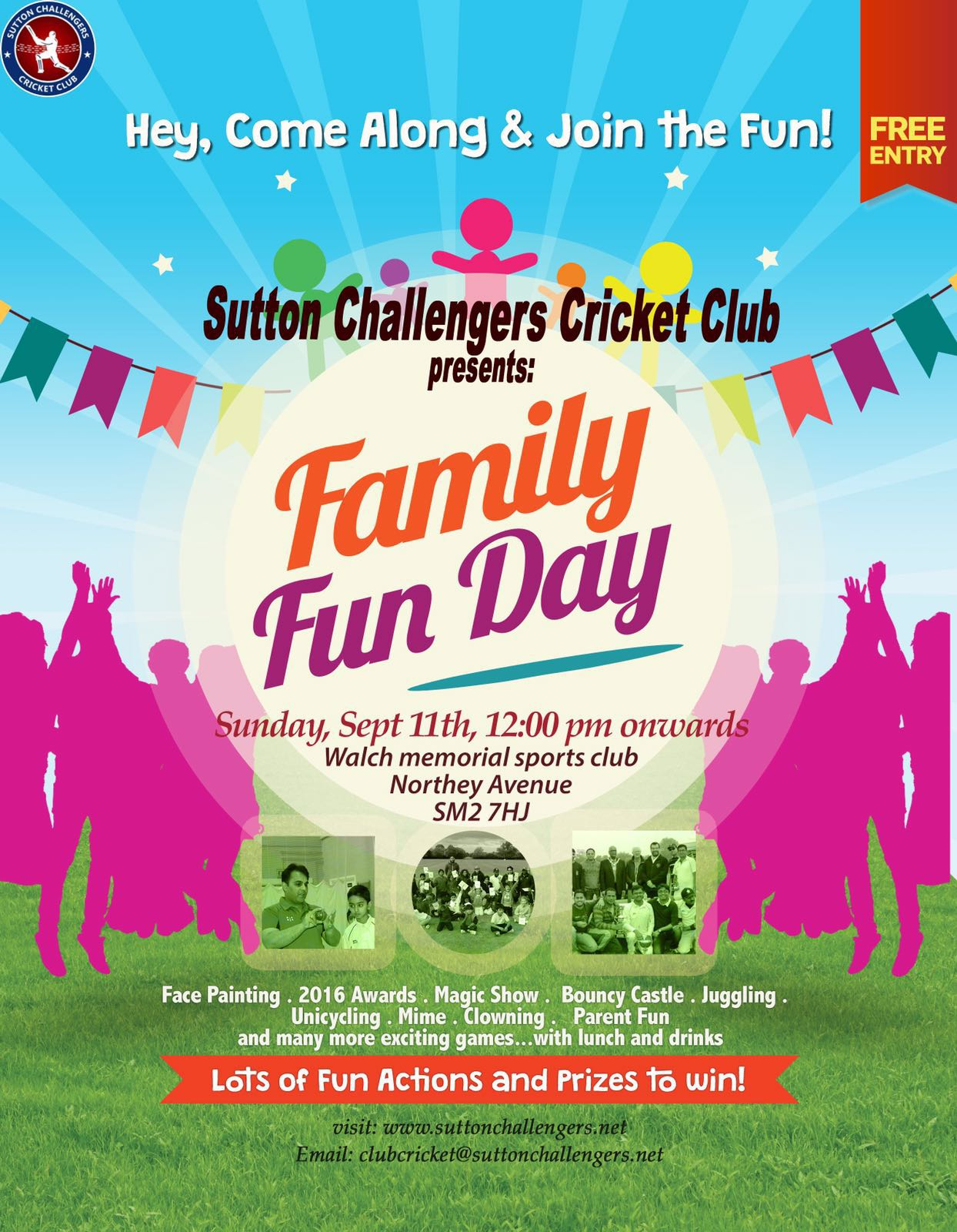 SCCC Family day – Sutton Challengers Cricket Club